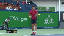 Djokovic outclasses Isner in Shanghai