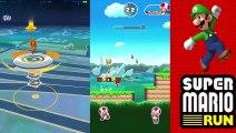Super Mario Run vs Pokemon Go BEST APP Of The Year Colors Toys For Kids