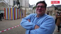 VIDEO. Poitiers : arrivée de l'oeuvre de Kimsooja