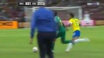 Terrible accélération de Sadio Mané qui provoque le pénalty, Brésil Sénéagal 1-1 (vidéo)