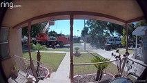 Un camion grue se renverse (Californie)
