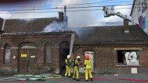 Incendie dans l'ancienne gare de Rhisnes