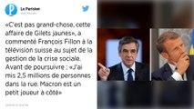 """""""Gilets jaunes"""" : Emmanuel Macron est un """"petit joueur"""", ironise François Fillon"""