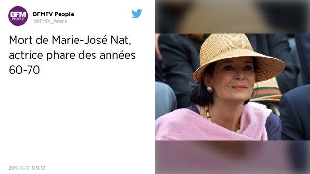 Marie-José Nat, actrice phare des années 1960 et 1970, est décédée