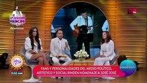 Lucía Méndez y Dulce acuden al homenaje a José José en Bellas Artes