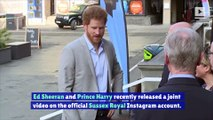 Ed Sheeran and Prince Harry Team up for National Mental Health Day