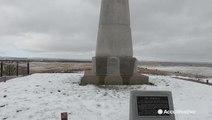 A little snow on Little Bighorn Battlefield