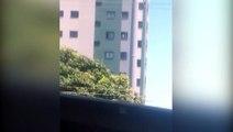 Vídeo: pessoa limpando janela do 10º andar de edifício gera preocupação de internauta