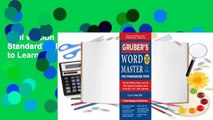 Full version  Gruber's Word Master for Standardized Tests: The Most Effective Way to Learn the