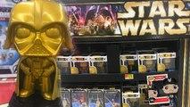 Star Wars Gold Darth Vader,Luke Skywalker & Princess Leah Funko Pop Walmart Exclusive Display