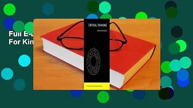 Full E-book  Critical Thinking  For Kindle