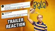 BALA Movie TRAILER Out | Ayushmann Khurrana, Bhumi Pednekar | FANS REACT