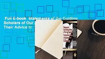 Full E-book  Statements of the Guiding Scholars of Our Age Regarding Books and Their Advice to