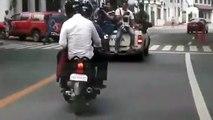 Palace Spokesman Salvador Panelo hitches a ride