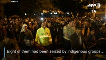 Detained police officers released by Ecuador indigenous groups
