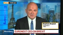 Euronext CEO Stephane Boujnah Says He's Confident That Financial Sector Is Prepared for Brexit