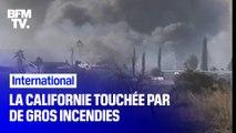Des centaines d'hectares brûlés, des habitants évacués... La Californie est touchée par de gros incendies