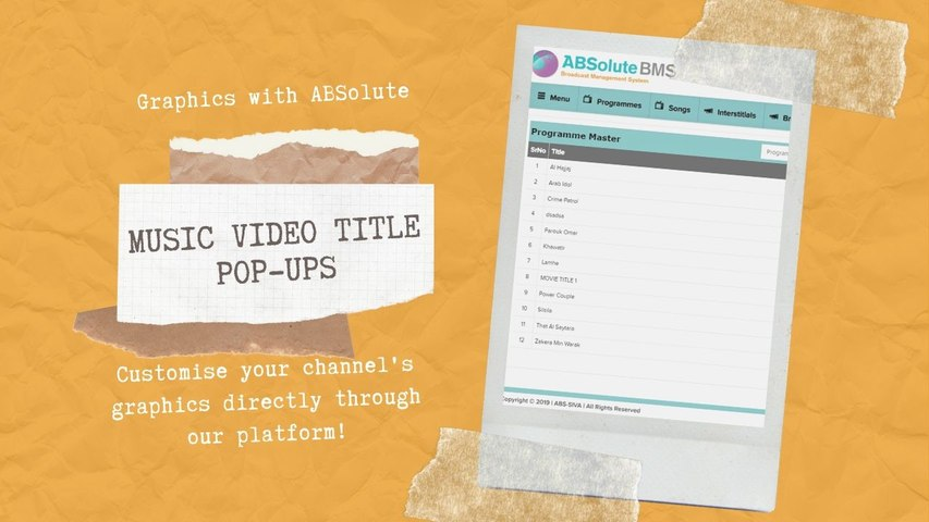 CUSTOMISE AND SET YOUR CHANNEL'S  TITTLE POP-UPS