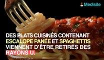 Rappel d'escalope de volaille et spaghetti sauce tomate des Super U