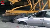 TIR'ın üzerindeki demir parçası arkasındaki aracın üzerine düştü!