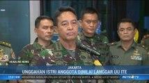 Istri Anggota TNI Cibir Kondisi Wiranto di Medsos