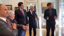 Vidéo.  La ministre Jacqueline Gourault visite le musée Friry de Remiremont