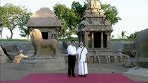 """شاهد: الهند تستقبل الرئيس الصيني شي جين بينغ في """"المدينة الحجرية"""""""