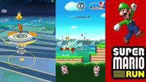 Super Mario Run vs Pokemon Go BEST APP Of The Year! Colors Games And Toys For Kids