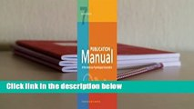 [MOST WISHED]  Publication Manual of the American Psychological Association