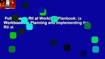 Full E-book  Rti at Work(tm) Planbook: (a Workbook for Planning and Implementing the Rti at