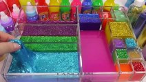 Mixing Slime Glitter How To Play And Learn Colors Case Water Clay Surprise Eggs Toys For Kids