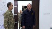 Milli Savunma Bakanı Akar ve komutanlar, Barış Pınarı Harekatı'ndaki son durumu sahada inceledi
