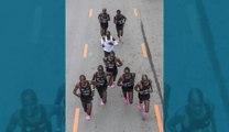 Eliud Kipchoge, premier homme à courir le marathon en moins de deux heures: 1h59'40