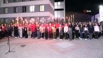 Uşak'ta KYK öğrencilerinden Barış Pınarı Harekatı'na tam destek