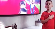 Jahovin'in oğlu Arnavutluk maçında İstiklal Marşımızı okudu