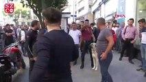 Sirkeci'de telefoncu ile müşteri arasında kavga