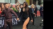 Priyanka Chopra Looking Hot In Black Slit Dress