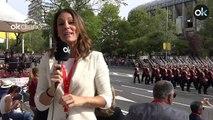El Rey Felipe VI preside el desfile de la Fiesta Nacional a un mes de la repetición electoral