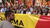 Manifestación en Barcelona de Espanya i Catalans y Catalunya Suma el 12 de Octubre