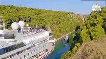 24 मीटर चौड़ी और 6 किमी लंबी कैनाल से बिना टकराए गुजरा 22.5 मीटर चौड़ा जहाज