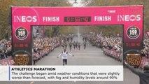 Kenyan Kipchoge becomes 1st athlete to run sub-2 hour marathon