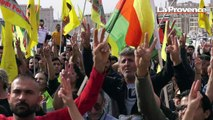 """Manifestation kurde à Marseille : les protestataires réclament """"des sanctions contre le régime d'Erdogan"""""""