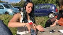 Esther, Nantaise de 17 ans, en mode «cup song»