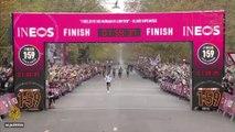 Kenya's Eliud Kipchoge finishes marathon in less than two hours