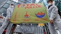 NO COMMENT | Activistas climáticos vandalizan sedes de multinacionales en Francia