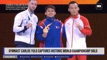 Gymnast Carlos Yulo captures historic world championship gold