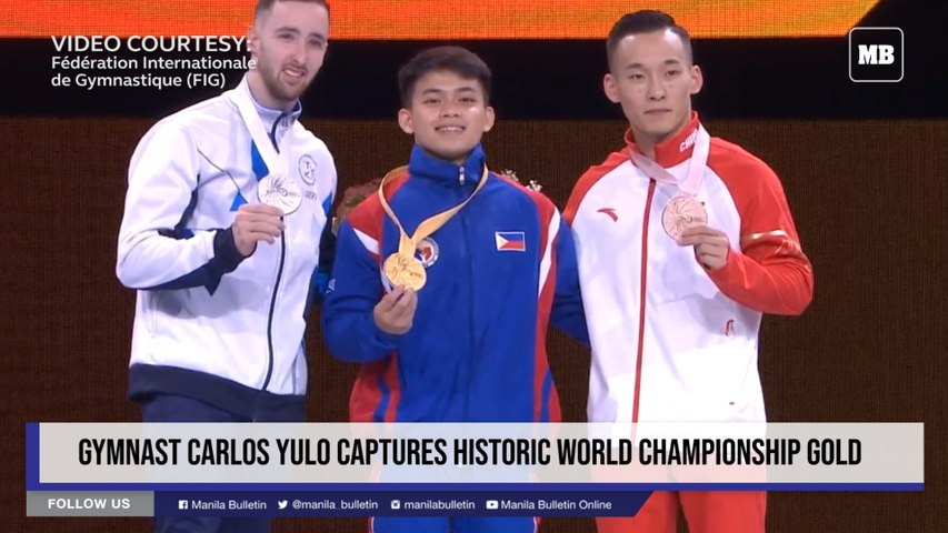Gymnast Carlos Yulo captures historic world championship gold