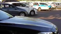 Carros se envolvem em colisão nas proximidades do Ciro Nardi