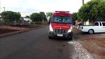Jovem fica ferido após sofrer queda de dois metros de altura