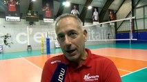 Christophe Charroux après la victoire de Martigues Volley contre Saint-Quentin